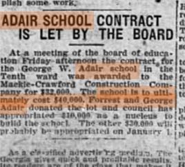 Adair School Contract_Nov. 18, 1911
