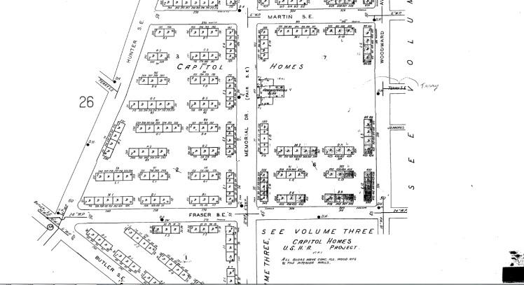 Capitol Homes Sanborn Map