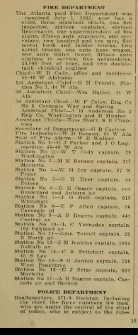 City Directory listing 1921