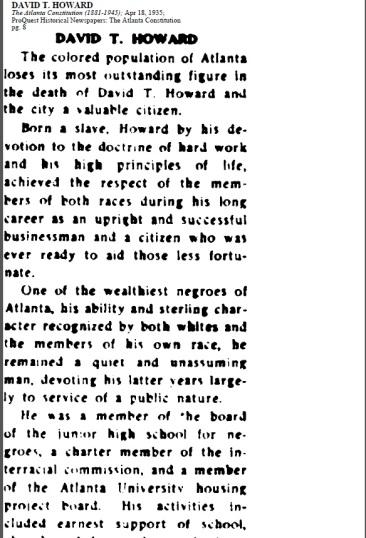 David T. Howard obituary 4-18-1935