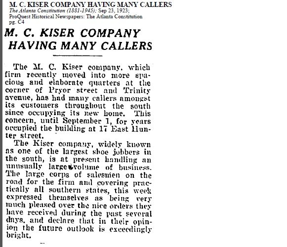 M.C. Kiser Co Sep 1923