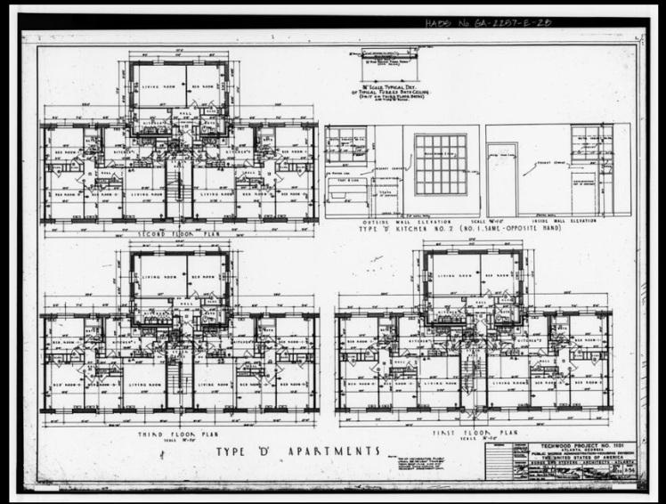 Techwood Homes Floor Plan
