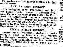 Ivy Street School - Redistricting 1905