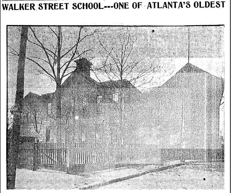 Walker Street School Picture 1909 article