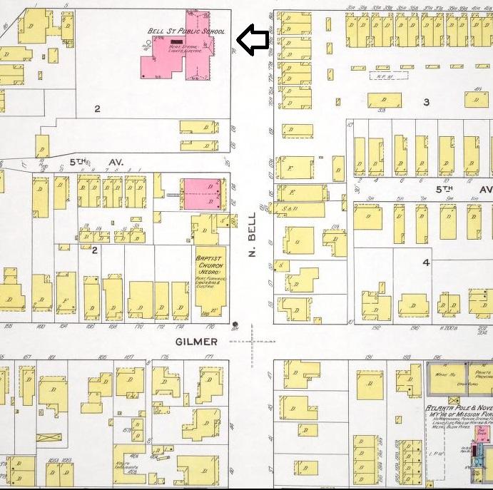 Bell St School 1911 Sanborn Map